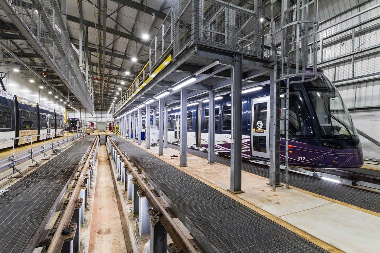 Blackpool tram depot inspection pits